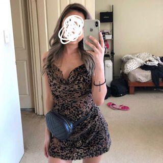 Cheetah/Leopard Slip-On Dress