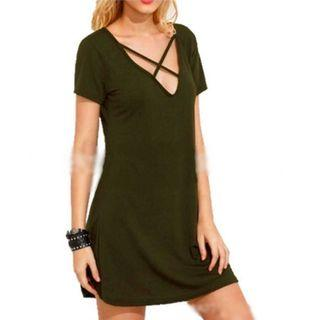 INSTOCKS Criss Cross Flowy Dress