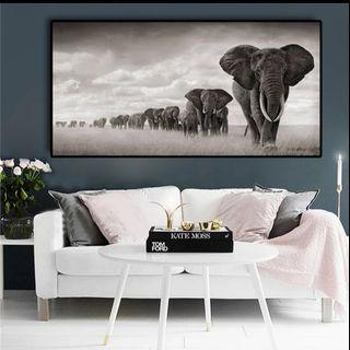 In stock -African safari canvas painting