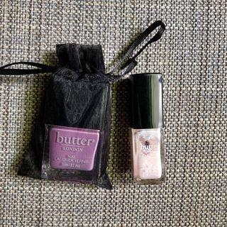 全新butter London 薰衣草紫+蕾絲朵朵  氣質色指甲油 正貨 專櫃貨 不拆賣 粉紫粉紅 opi