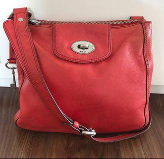 Fossil Sling Bag Red