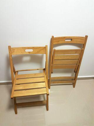 Wooden Foldable Chairs.