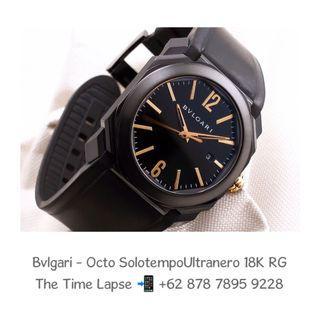 Bvlgari - Octo Solotempo Ultranero Black & 18K Rose Gold
