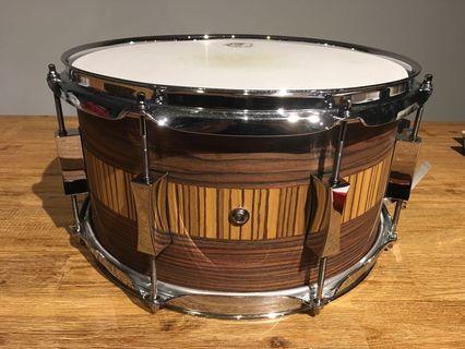 Pork Pie USA Custom 13x7 Maple Snare Drum (Rosewood/Zebrawood)