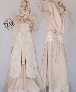 [SEWA] BROMANTIC - Apron modification inspired by Letty Lynton gown from 1932 LOOK 1 - Sewa Gaun Pernikahan Muslimah Vintage Rustic - Dress Pesta