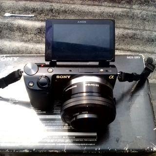 Kamera Vlog Mirrorless Sony Nex 5R + Sony 16-50mm OSS