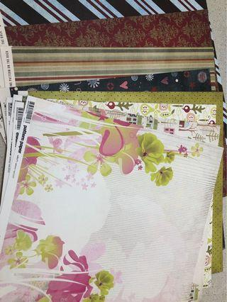 12 x 12 assorted scrapbook papers (50 sheets)