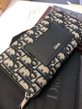 Dior 2019 long wallet kim jones oblique