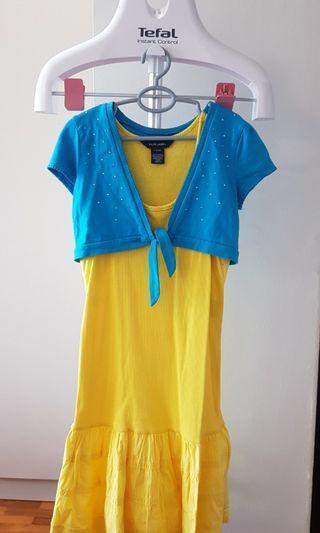 🚚 Yellow Ralph Lauren Dress size 12/14