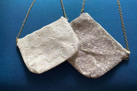 🚚 Lace Duo Purpose - Pouch/Sling Bag