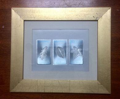 Vintage THREE AUTUMN LEAVES by Julie Oldham