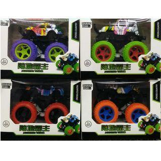 彩繪雙慣性玩具車