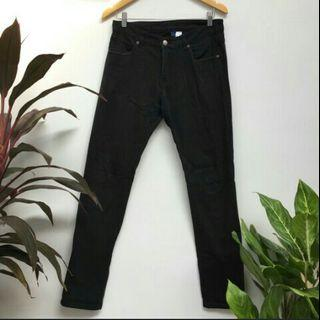 100ribu h&m size 30 black wash