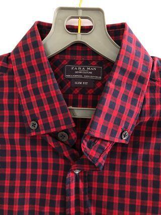 Zara Men Slim Fit Shirt Size M