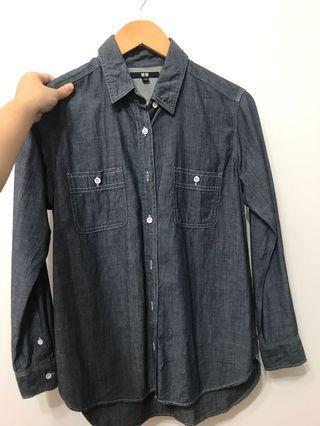 🚚 Uniqlo 牛仔薄襯衫