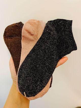 日本 短襪 銀絲 三色 單獨賣
