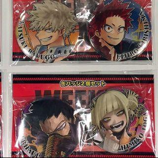 Boku no Hero Academia (My Hero Academia) BNHA MHA 2 Badges Set