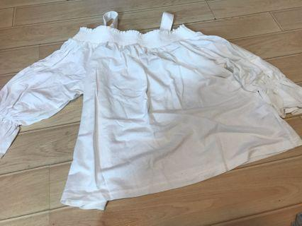 New - GU white strap top m size