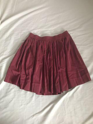 H&M Divided Maroon Skirt