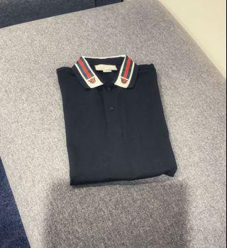 GUCCI Polo shirt with web and feline head