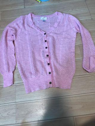 New - ann taylor pink cardigan m size