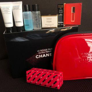 ⭐️NEW⭐️Chanel Le Rough Duo cosmetic bag & Lipstick Case (w_samples)