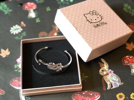 全新❣️Sanrio Hello Kitty Ribbon 🎀 Bracelet 手鐲💖連禮物盒🙆🏻