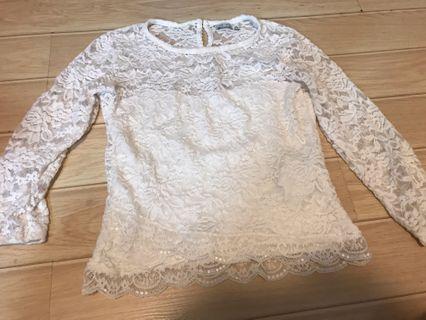 Bershka m size lace top