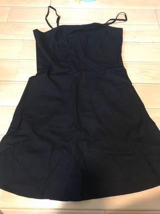 Black Strap dress M-L size