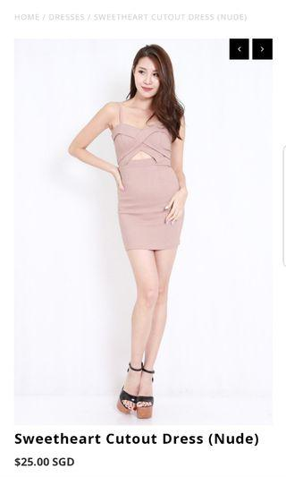 Sweetheart cut out dress
