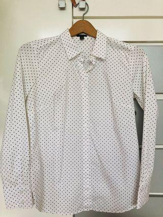 Ann Taylor mini stars long sleeve shirt