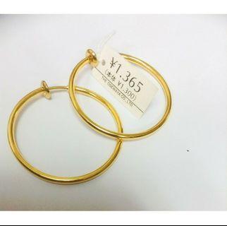 🚚 日本全新現貨圈圈夾式耳環