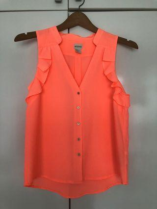 H&M bright coral top
