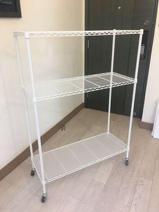 白色層架white mesh W900D350