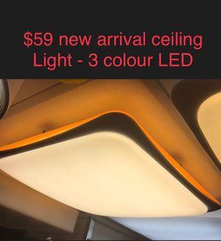 LED ceiling light for bedrm - 3 colour tone
