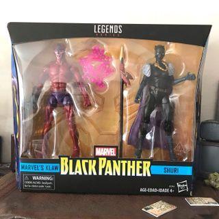 Marvel Legends Black Panther Shuri and Klaw