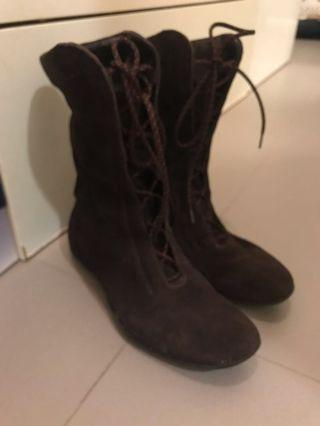 Max Mara Suede Leather Boots