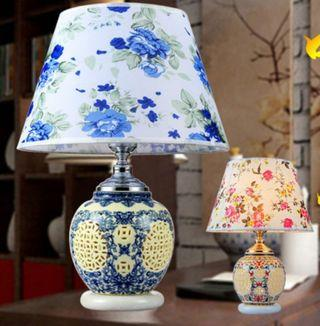 青花瓷檯燈 Blue and white porcelain desk lamp