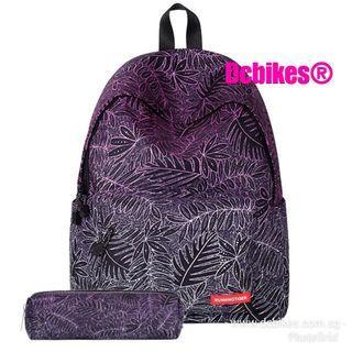 🆕! Galaxy 3D Purple Backpack Haversack School Bag + Pencil Pouch Bag #Dcbikes