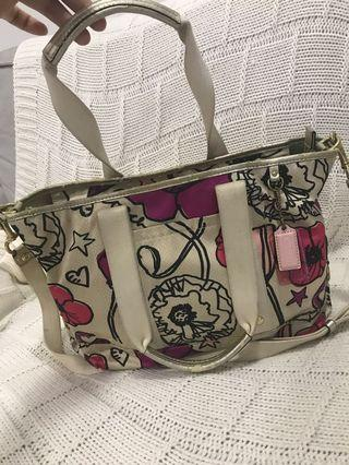 Authentic Coach Kyra Signature Floral Print Tote