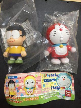 合售 Bandai 哆啦a夢扭蛋 紅色哆啦 小哆啦 大雄 可動積木人 吊飾 公仔 關節可動 可動吊飾 扭蛋 轉蛋