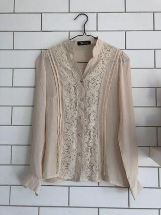 Blouse Lace Nude