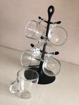 Flashsales - Bodum Mugs w/Mug Tree (NEW)
