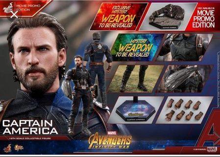 全新現貨 Hottoys MMS480 Avengers 3 Infinity War Captain America 美國隊長 普通版 Movie Promo