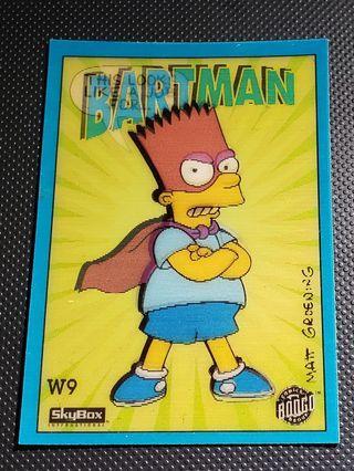 罕有 阿森一族 Simpsons BARTMAN 立體卡