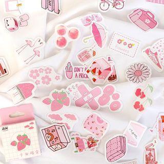 [PO] Kawaii Pink Aesthetic BUJO Stickers (50pcs)