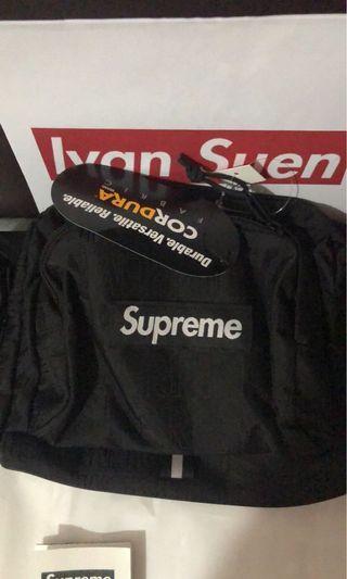 Supreme shoulder bag black and olive