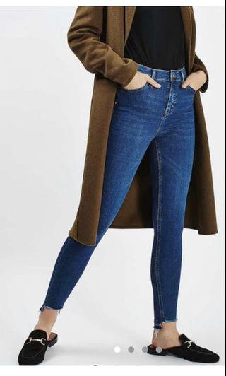 Topshop Jamie Indigo step-hem Jeans - W26 L30