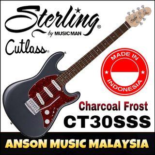 Sterling by Music Man Cutlass CT30SSS Electric Guitar, Charcoal Frost(CFR)