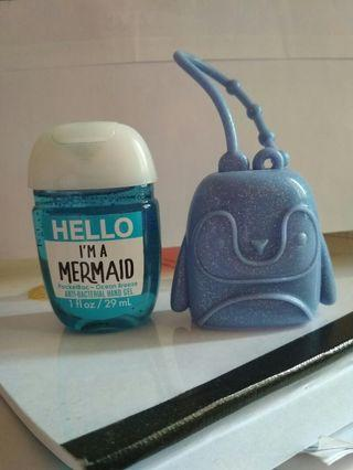 Pocketbac Holder dan hand sanitizer Hello I'm a Mermaid bbw bath body works